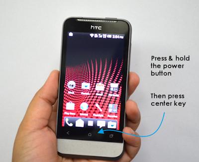 Take Screen Shot on HTC One V