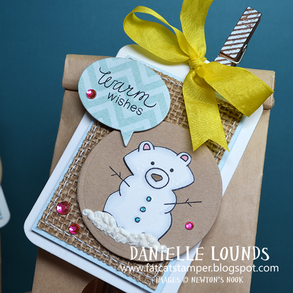 Snow Bear Tag by Danielle Lounds for Newton's Nook Designs