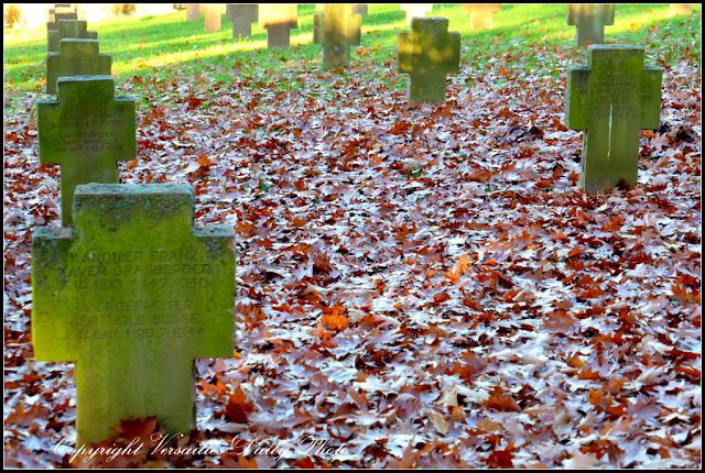 Tombes soldats allemands cimetière des Gonards Versailles deutsche Gräber