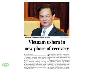Thủ tướng Nguyễn Tấn Dũng được các nhà đầu tư nước ngoài, các chuyên gia kinh tế nhận xét là chính trị gia hiện đại đầu tiên của Việt Nam.