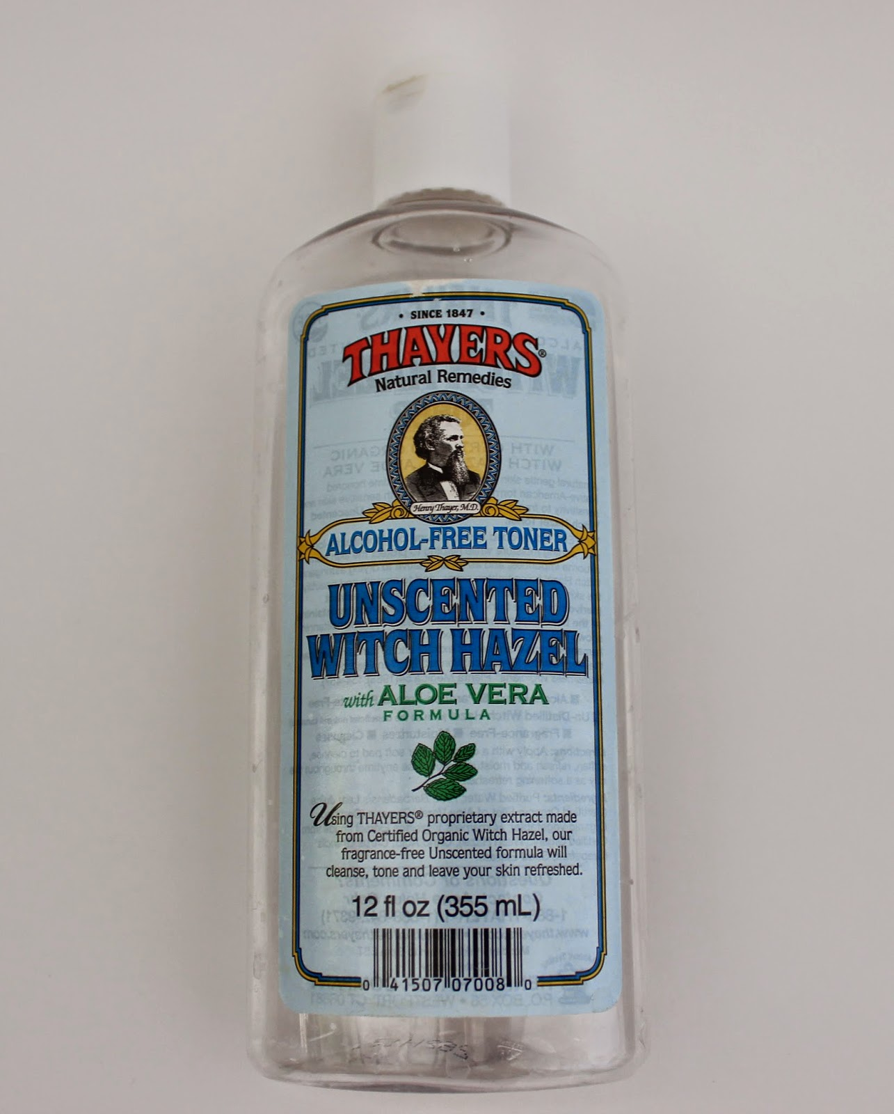 Thayers Alcohol Free Toner Unscented Witch Hazel with Aloe Vera Formula