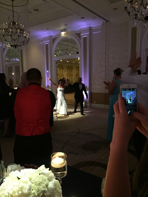 Couple getting introduced for first time at wedding at Fairmont Washington DC, Georgetown