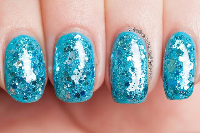Lynnderella nail polish manicure aquamarine calm illamasqua serenity