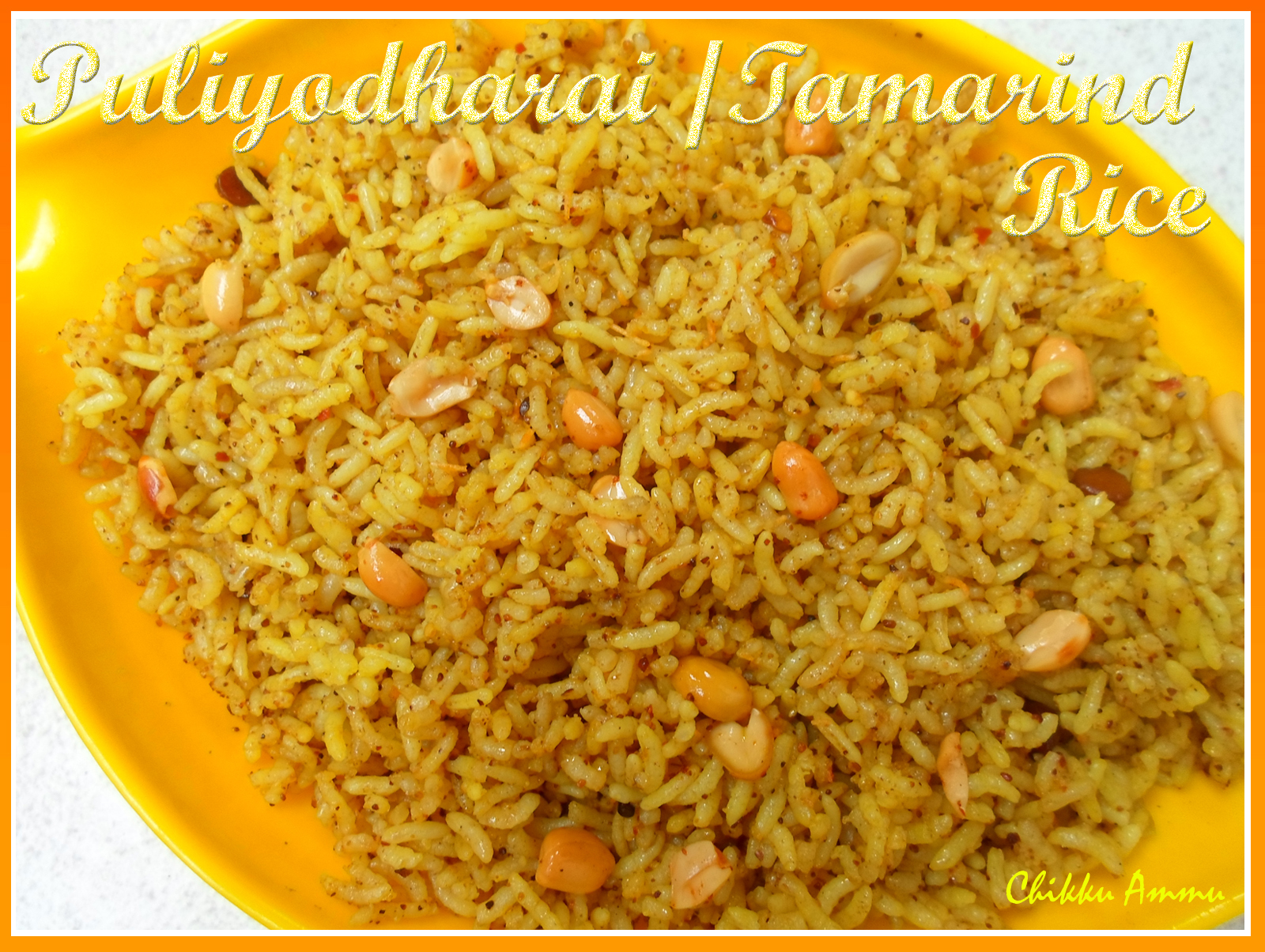 Chikkus Kitchen : Puliyodharai Recipe / Tamarind Rice Recipe