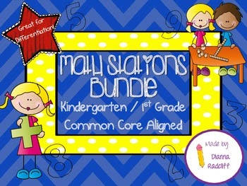 http://www.teacherspayteachers.com/Product/Kindergarten1st-Grade-Math-Stations-Bundle-Large-955481