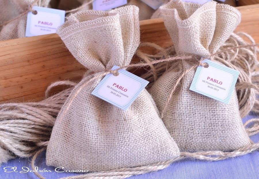 detalles de primera comunion niño saquitos aromaticos marineros