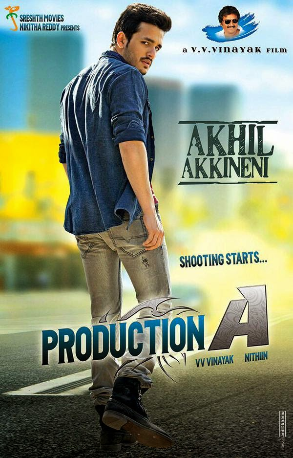 Akhil Akkineni Debut Movie PRODUCTION A First Look Poster