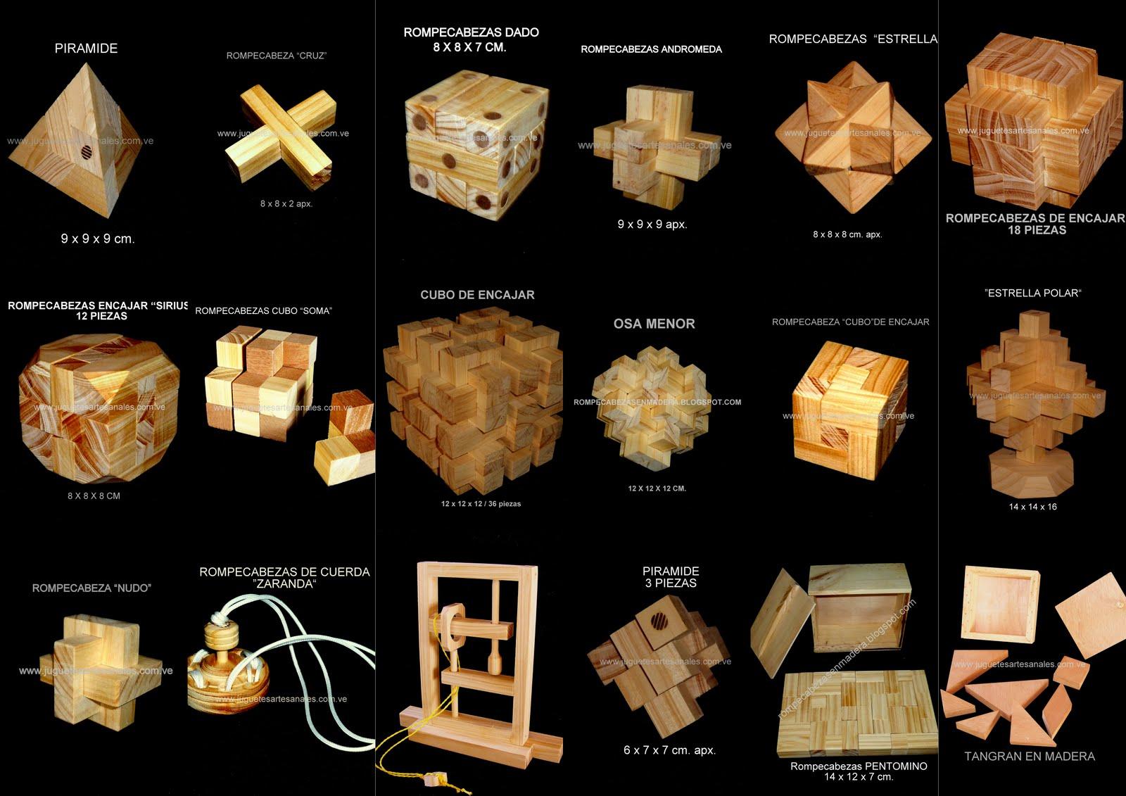 Rompecabezas de encajar en madera.