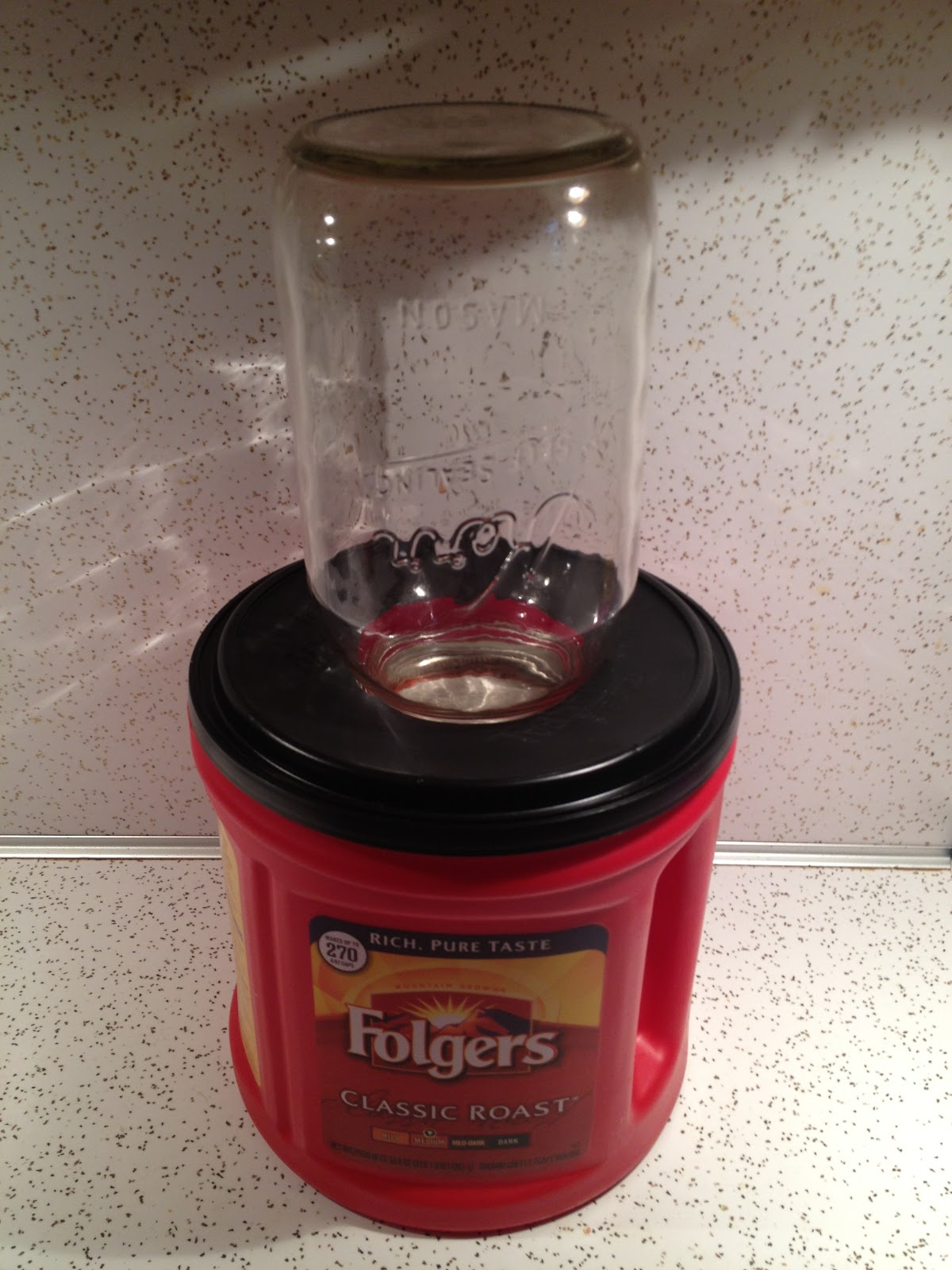 Lemon bean and things mason jar drying system recycled - What are coffee cans made of ...