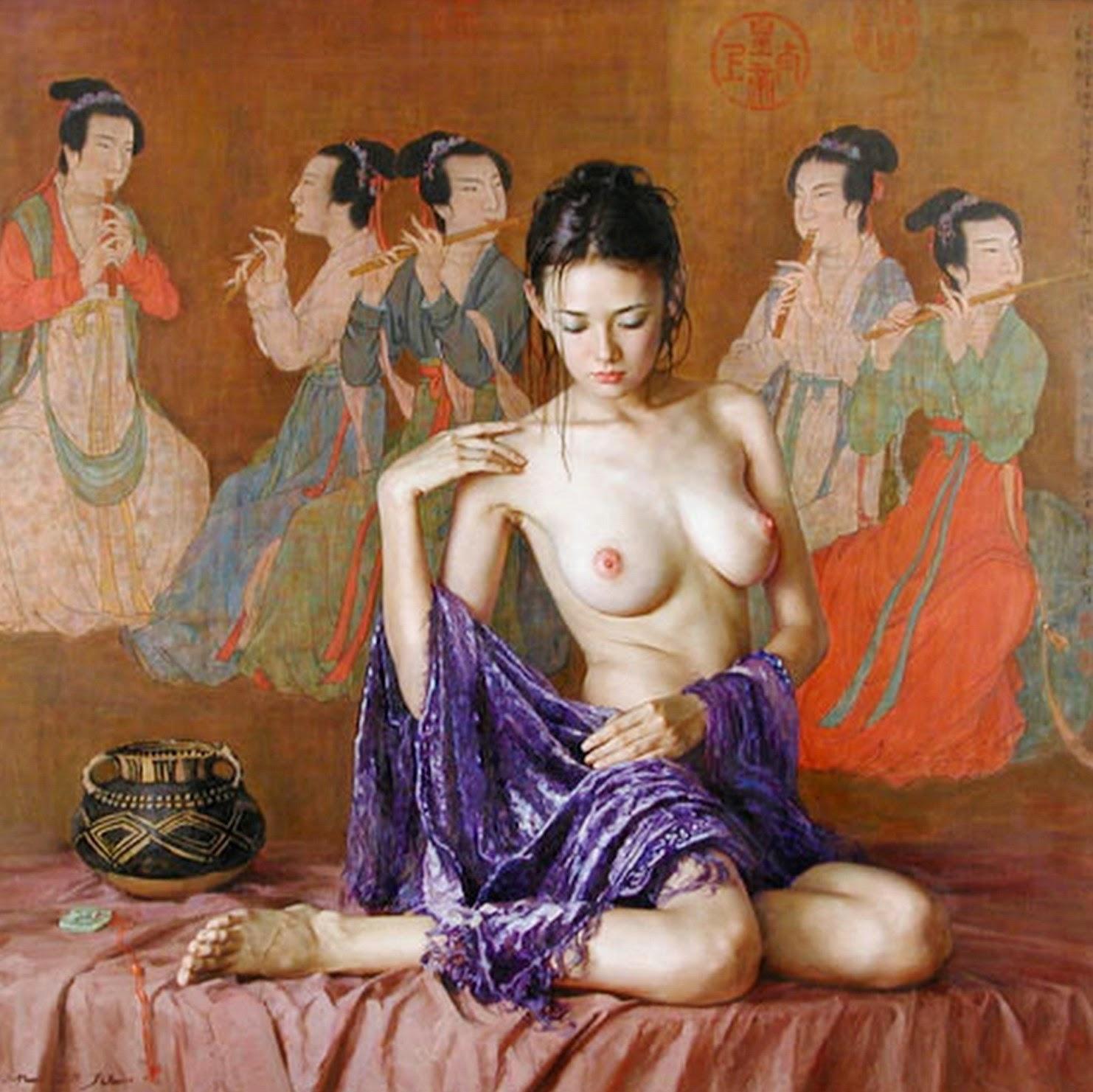 mujeres-chinas-en-cuadros-de-paisajes
