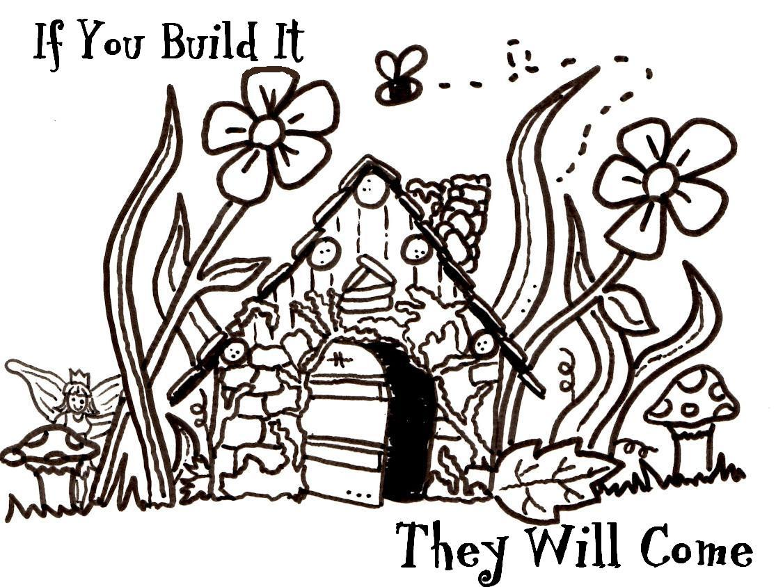 Free Coloring Pages Of Fairy House