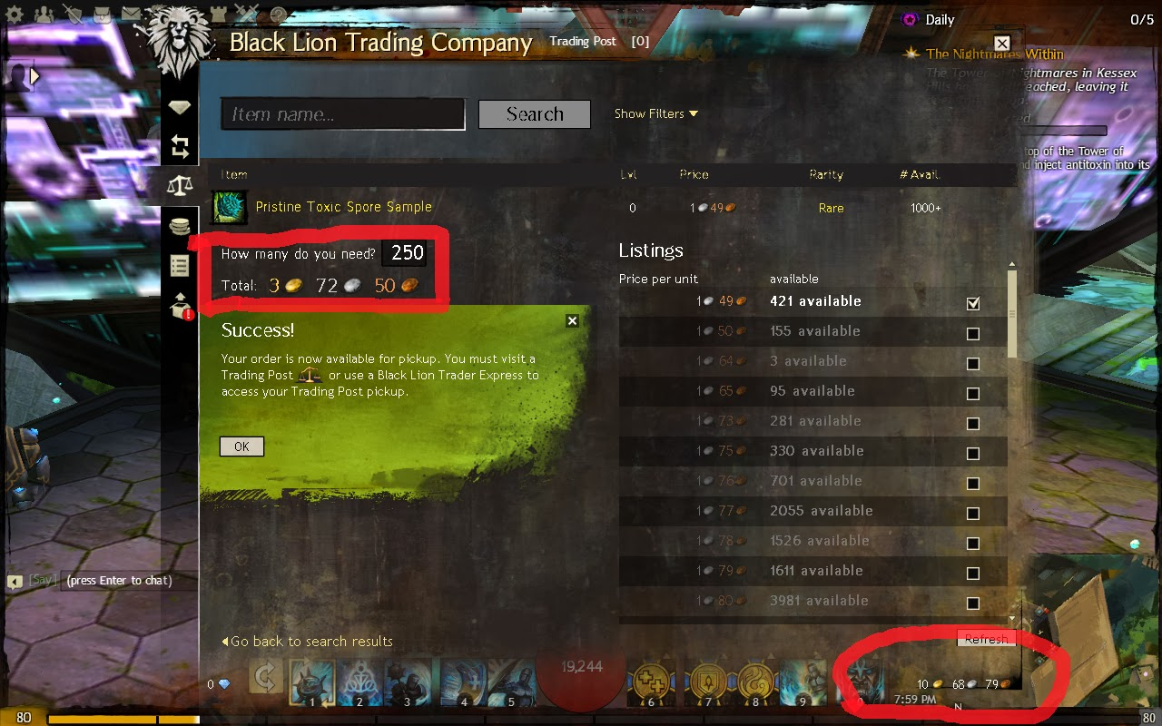 Online Games: Make fast GOLD through Trading Post..(part 1)