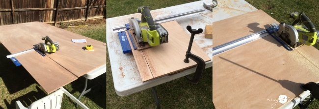 ripping plywood with Kreg rip cut and ryobi circular saw