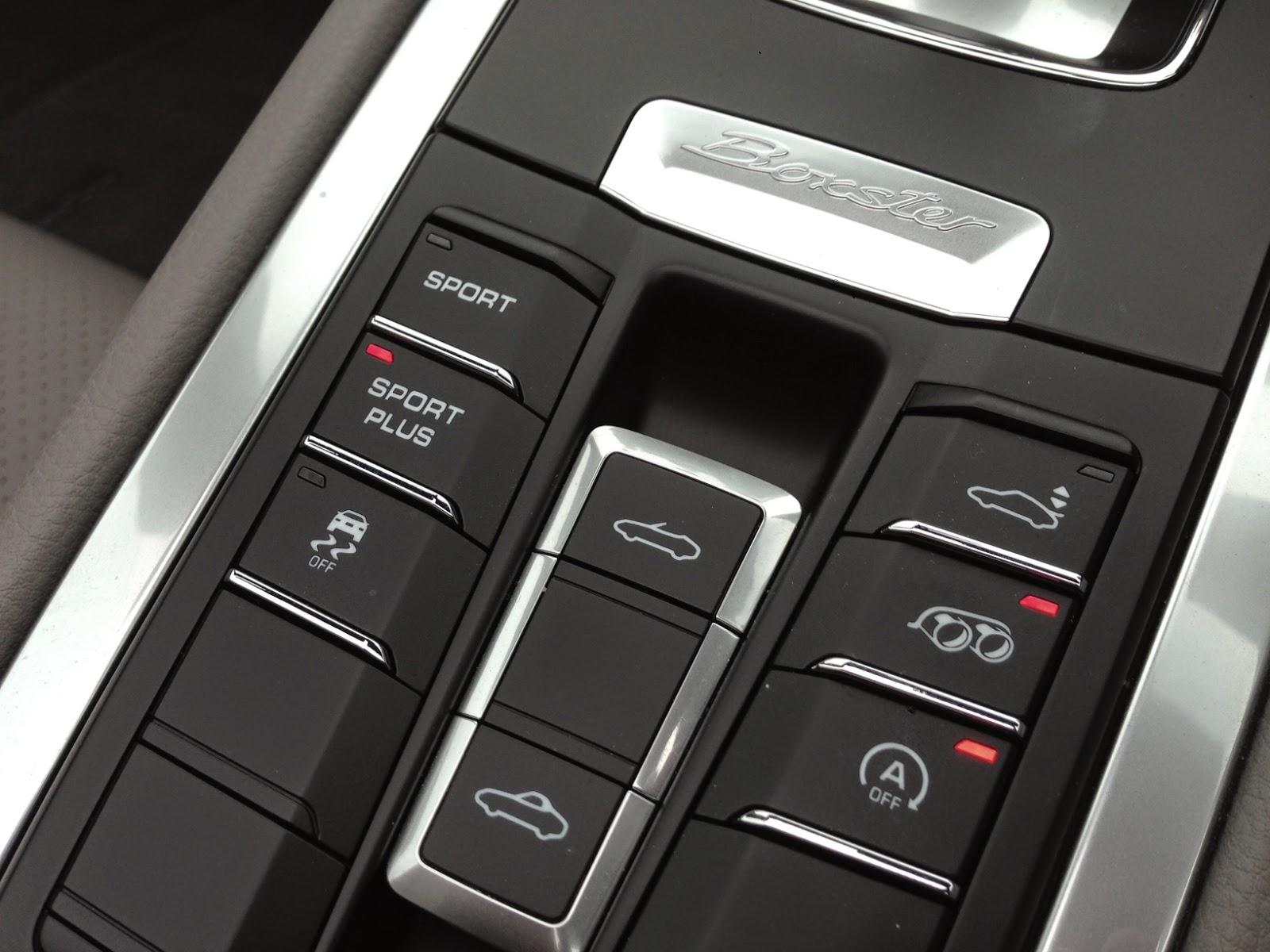 2014 Porsche Boxster S buttons