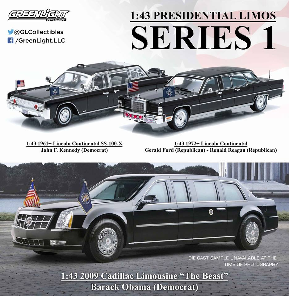 86110 1:43 Presidential Limos Series 1, Coming Spring 2016! All New Tooling  Greenlight Sneek Peek Amazing Ideas