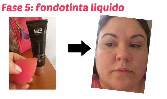 fase 5: applicazione del fondotinta liquido ecobio