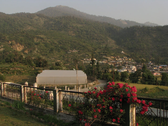 Barsu village and polyhouse from GMVN