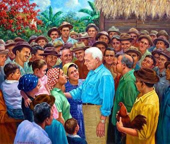 Juan Bosch con el pueblo