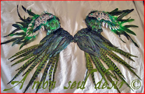 ailes plumes epaulettes feathers wings