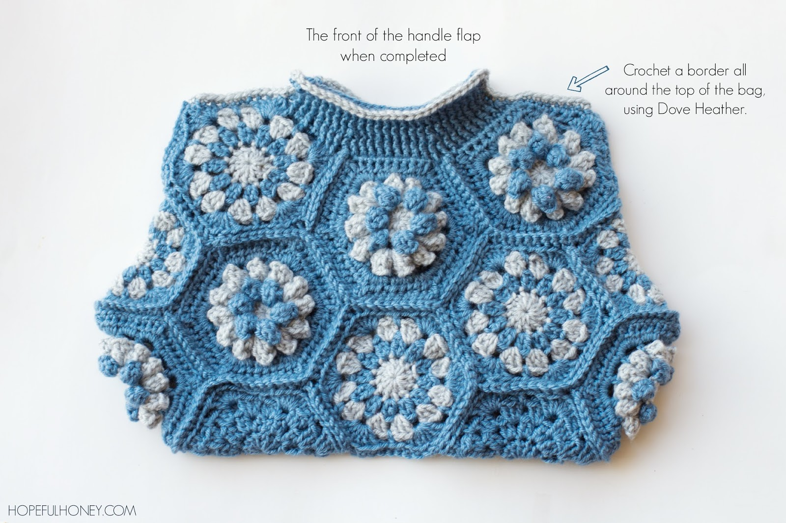 ... Honey Craft, Crochet, Create: Dahlia Hexagon Handbag Crochet Pattern