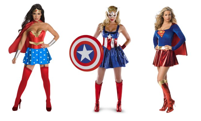 Mulher Maravilha, Capitão América e Super Man