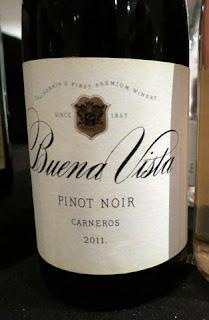 Buena Vista Pinot Noir 2011 - Carneros, California, USA (90 pts)