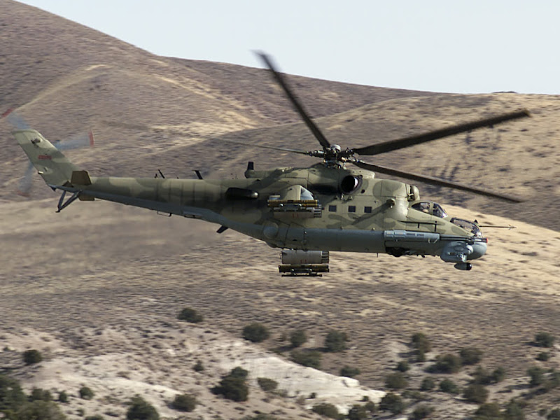 Mi-24 Hind Combat and Transport Helicopter