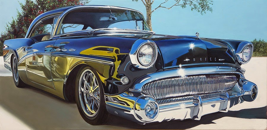 Simply creative classic muscle cars paintings by cheryl kelley - Classic car pics ...