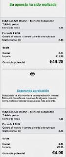 Apuestas Deportivas Rosberg Formula 1-Mundial 2014 + Voleibol-Serie A1 Italia Ricciardo
