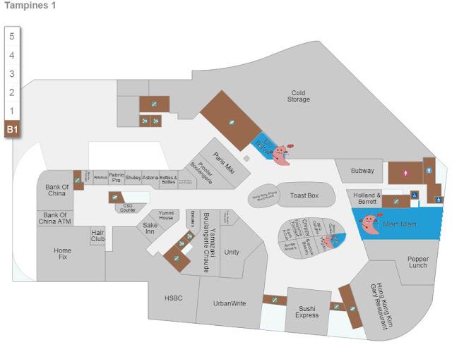 Tampines 1 - 320 Below Store Location