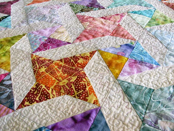 scrappy ribbon star quilt