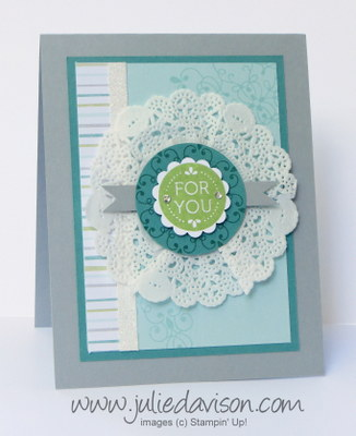 """Stampin' Up! Letterpress Winter """"For You"""" card"""