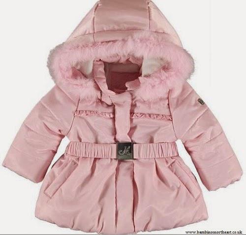Manteau rose bébé fille