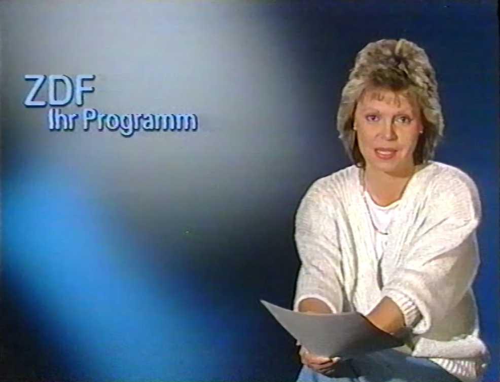Deutsche tv ansagerinnen mady riehl 6 juni 1987 ansage zdf ihr programm deutsche tv ansagerinnen for Nachrichtensprecher zdf
