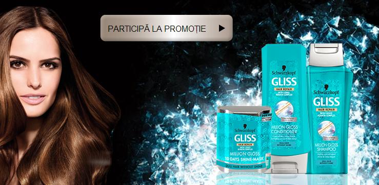 Concurs Gliss Million Gloss 2014 - momentul tau de stralucire iti aduce premii pretioase