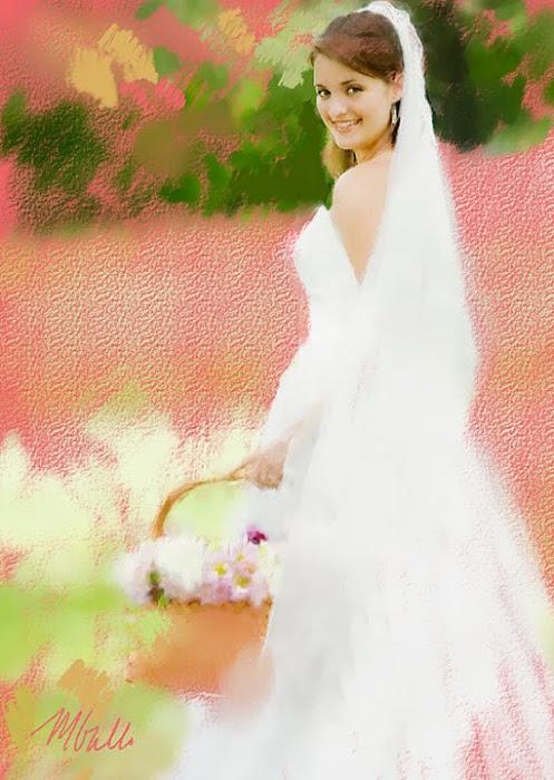 Bride with Basket-pastel