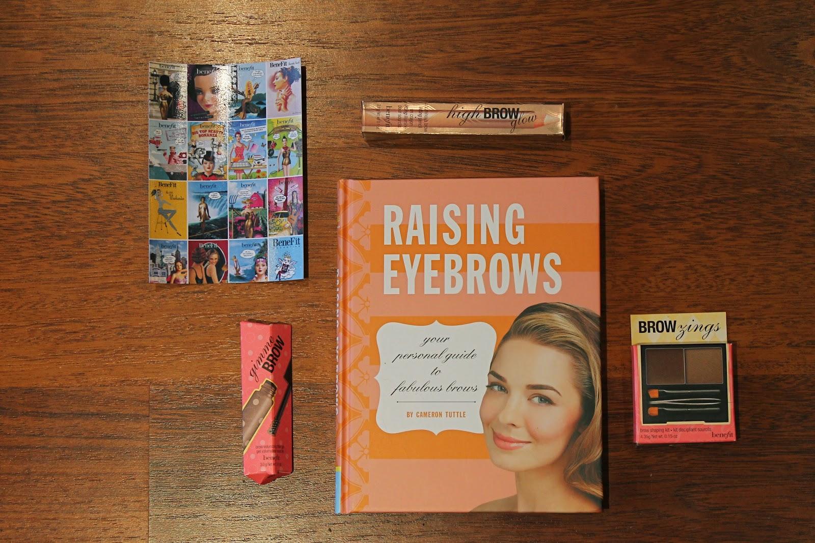 Benefit raising eyebrows book browzings gimmie brow high brow blogger