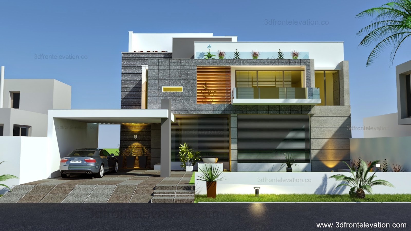 Beautiful Modern Contemporary House Elevation 2015 - Architectural ...