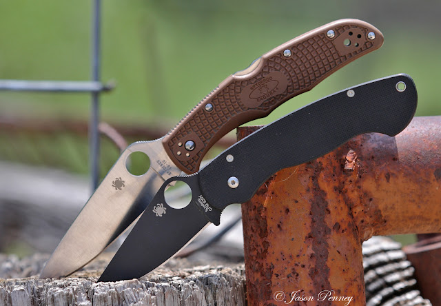 Spyderco Endura4 Flat Ground FRN and Paramilitary 1