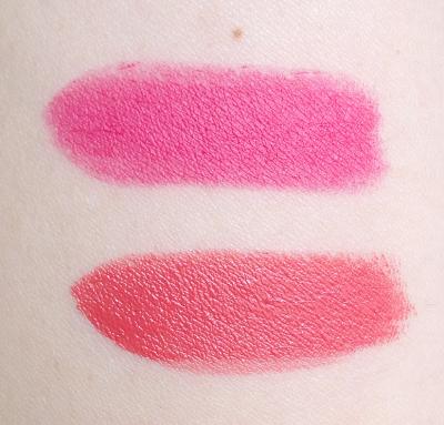 Flower Beauty Kiss Stick High Shine Lip Color in Ginger Lily Kiss Stick Velvet Lip Color in Flamingo Flower