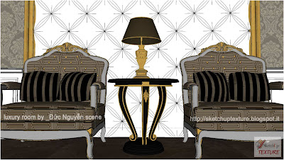 sketchup model luxury room detail 3
