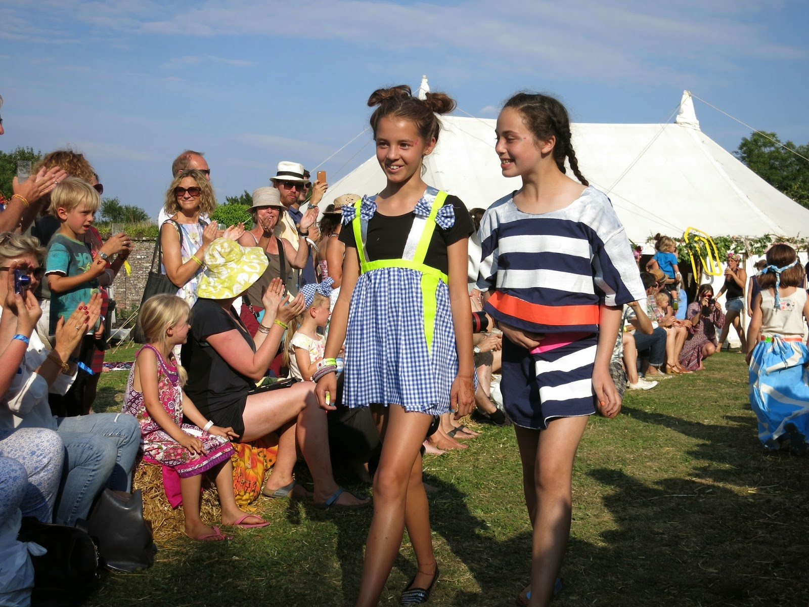 childrens catwalk at port eliot festival 2014