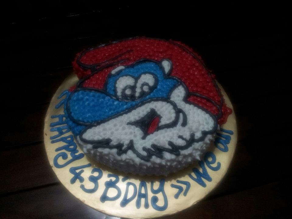 BigSmiles Kitchen: Birthday Cake - papa smurfs - Thanks Ros Kajang