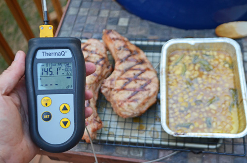 thick pork chops, ThermaQ, Berkshire pork, Thermoworks