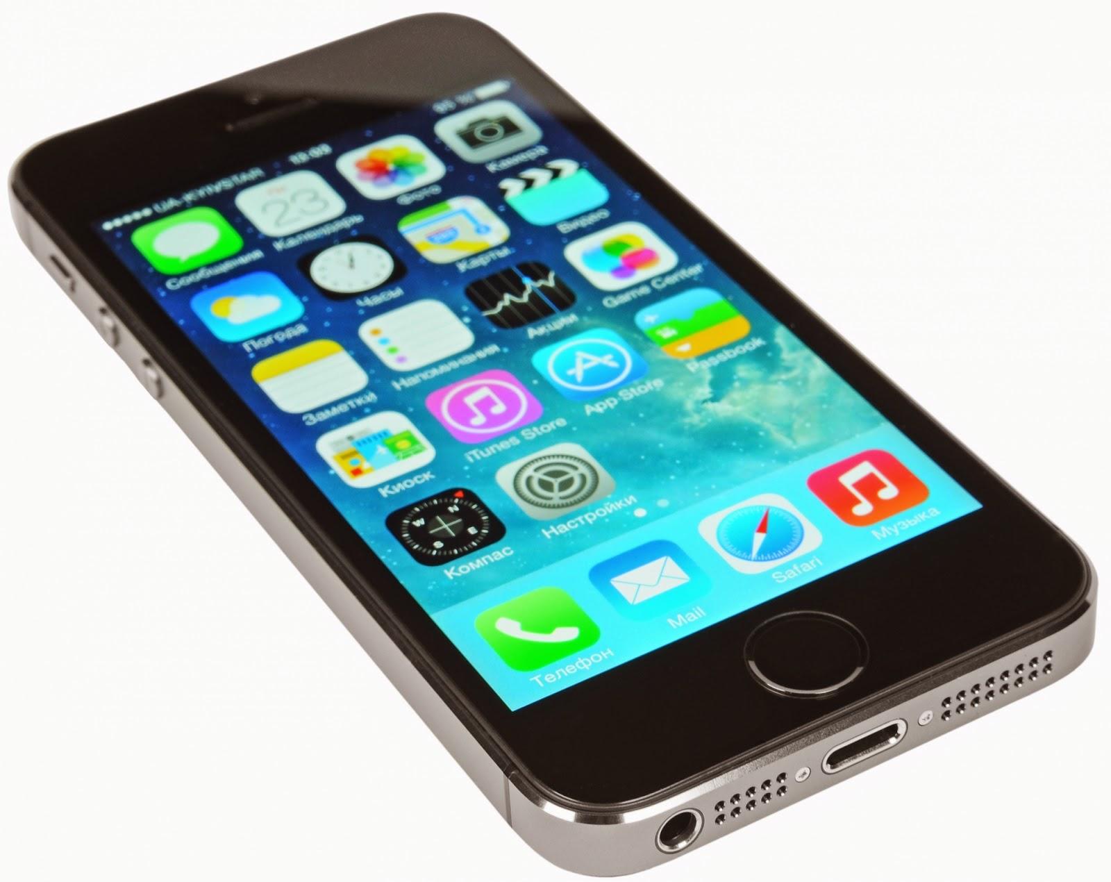 Мобильный телефон Apple iPhone 5s 32 Гб Grey в тонком и легком корпусе и сверхскоростной беспроводной связью