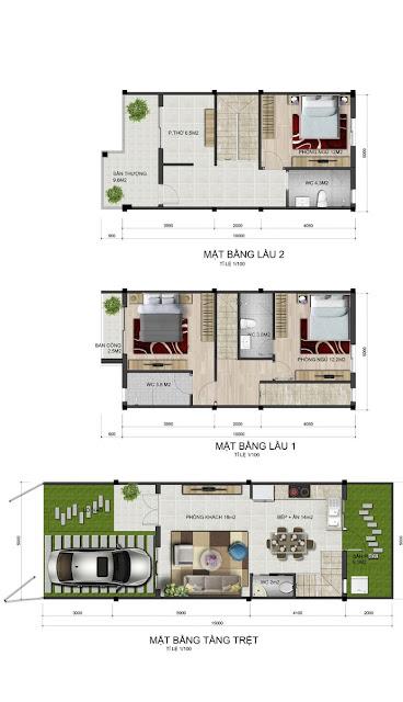 Bán nhà phố Park Riverside Quận 9 mẫu LL4
