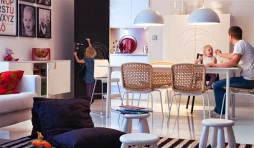 2 in 1 Living and Dining Room Design and Decorating Ideas by Ikea