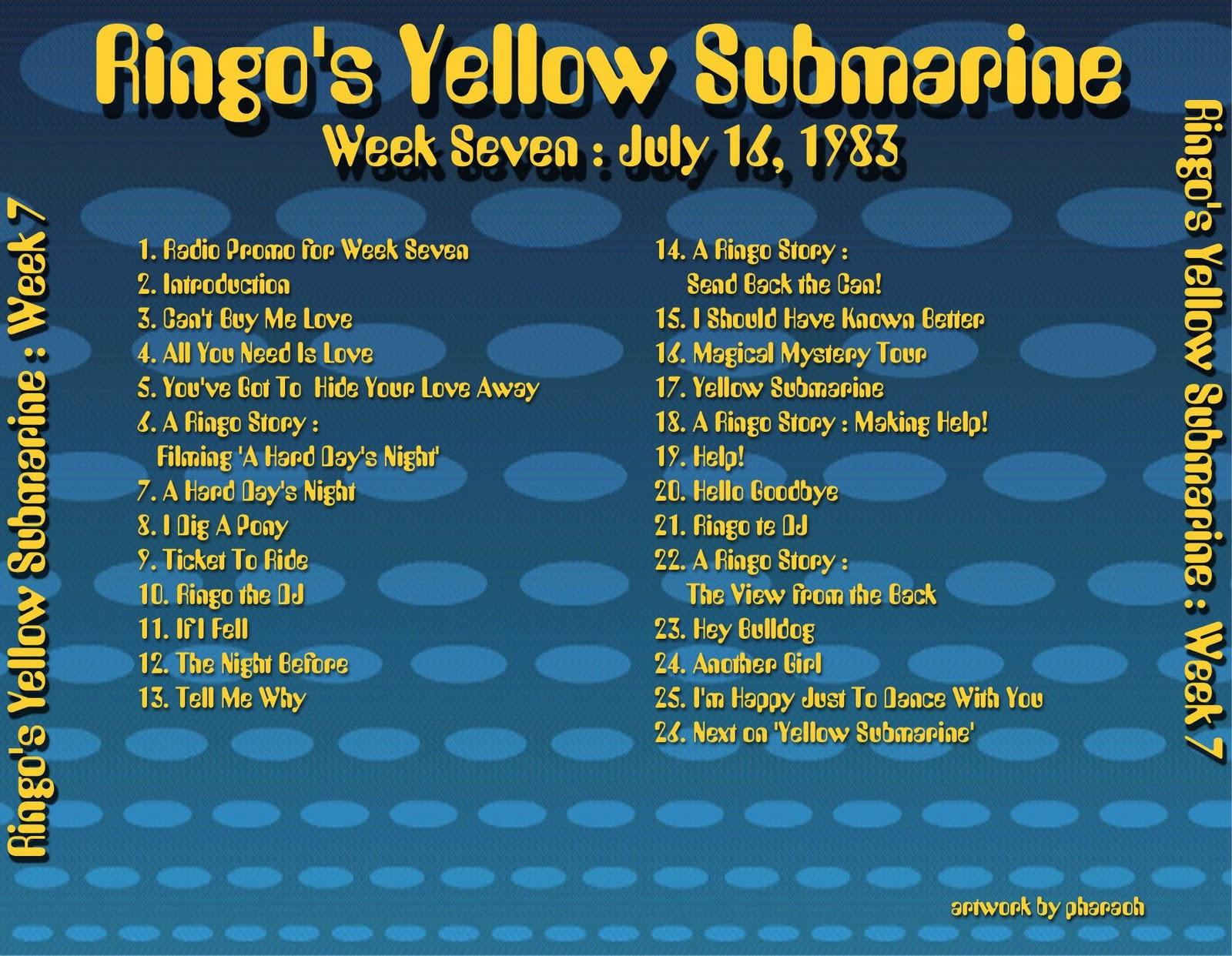 Beatles Radio Waves: 1983 07 16 Ringo's Yellow Submarine 07 #B89B13 1600 1242