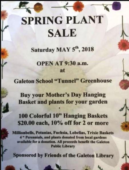 5-4 Spring Plant Sale Galeton