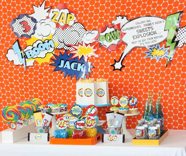 Wants and Wishes: Party planning: Vintage Superhero Birthday Party